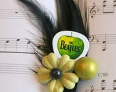 Beatles Guitar Pick Boutonniere - Apple Records Green