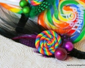 Lollipop Love Hair Comb- Wonka Inspired Fascinator with Candy Charms
