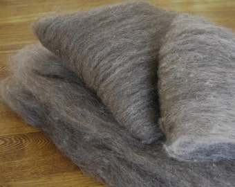 Shetland Grey Spinning Batts - 4 ounces