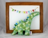 Stuffed Animal Plush Dinosaur Green Blue