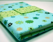 The Notetaker - Quilted Notepad Holder - Ice Blue Floral