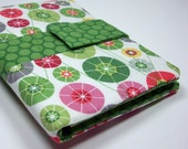 The Jotter - Mini Quilted Notepad Holder - Umbrella Tops and Springtime