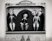 ooak paper Theatre, art doll , prints - circus art sideshow - First Prize - reserved