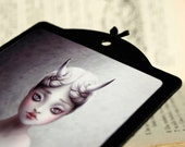 Human Horn, lovely freak, wall art print plaque, sideshow circus illustration on plate