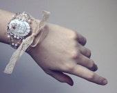 Alice in Wonderland bracelet - wire wrapped jewelry