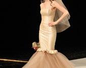 RESERVED DEPOSIT Mermaid Wedding Gown for Jill