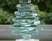 Stacked Glass Classic Pine Tree