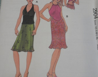 Kwik Sew 2904 Misses Tops and Skirts