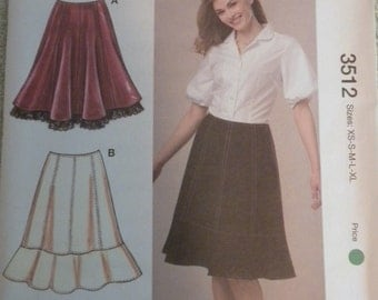 Kwik Sew 3512 Misses Skirts