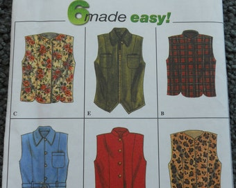 Simplicity 7376   6 Made Easy Vests