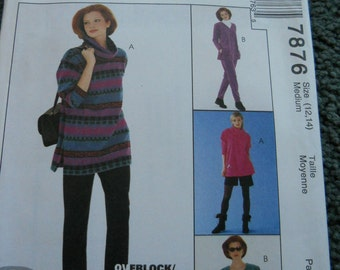 McCalls 7876 Misses top, Pants, Shorts, and Skirt for knits