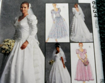 McCalls 6334 Wedding Gowns and Bridesmaid Dresses