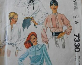 Vintage McCalls 7330 Misses Blouse  uncut
