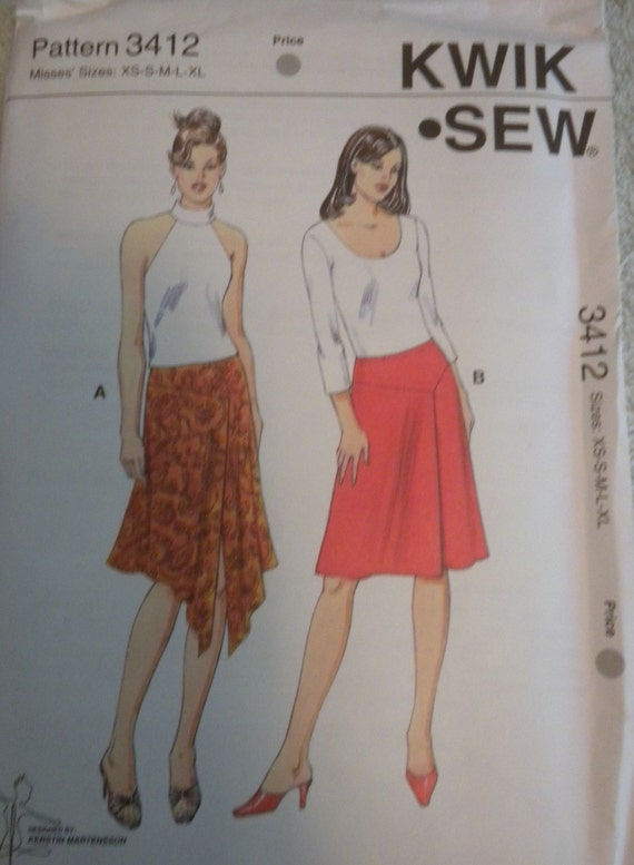 Kwik Sew 3412 Misses Skirts