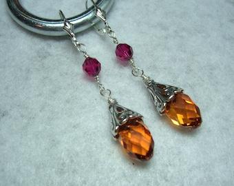 Fiery Swarovski Crystal Earrings