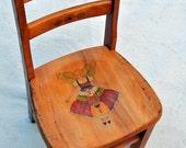 Fairy Chair Hand Painted Vintage Kindergarten