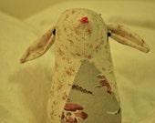 Mathilda the Bunny - vintage fabric plush rabbit