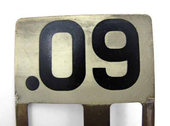 Vintage 9 Cents Cash Register Flag