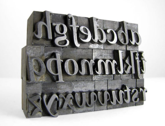THE ALPHABET 48pt Metal Letterpress