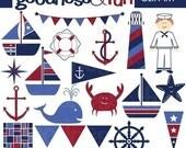 Digital Clipart  -  Nautical Fun