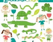 Buy 2, Get 1 FREE - Reptile Rascals Clipart - Digital Reptile Clipart - Instant Download