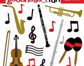 Buy 2, Get 1 FREE - A Little Music Clipart - Digital Music Clipart - Instant Download