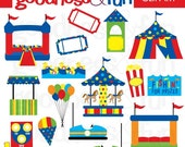 Buy 2, Get 1 FREE - Carnival Fun Clipart - Digital Carnival Fair Clipart - Instant Download