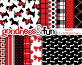 Buy 2, Get 1 FREE - Stylin' Scottie Digital Papers - Digital Scottie Dog Paper Pack - Instant Download