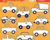 Buy 2, Get 1 FREE - Traffic Jam Digital Stamps - Digital Car & Truck Stamps - Instant Download