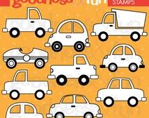 Buy 2, Get 1 FREE - Traffic Jam Digital Stamps - Digital Car & Truck Stamps - Instant Download