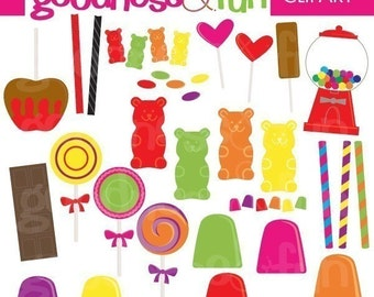 Buy 2, Get 1 FREE - Candy Candy Clipart - Digital Candy Clipart  -  Instant Download