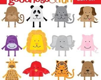 Buy 2, Get 1 FREE - Gumdrop Cuties Animal Clipart - Digital Gumdrop Animals Clipart - Instant Download