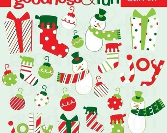 Buy 2, Get 1 FREE - Digital Christmas Clipart - Joy and Jolly Christmas Clipart - Instant Download