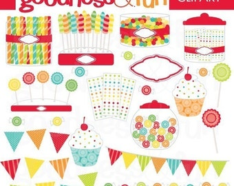 Buy 2, Get 1 FREE - Dessert Party Clipart -  Digital Party Clipart - Instant Download