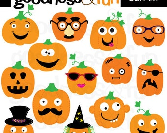 Buy 2, Get 1 FREE - Pumpkin Patch Halloween Clipart - Digital Halloween Clipart - Instant Download