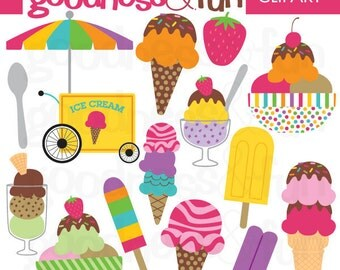 Buy 2, Get 1 FREE - Just Treats Dessert Ice Cream Clipart - Digital Ice Cream Clipart - Instant Download