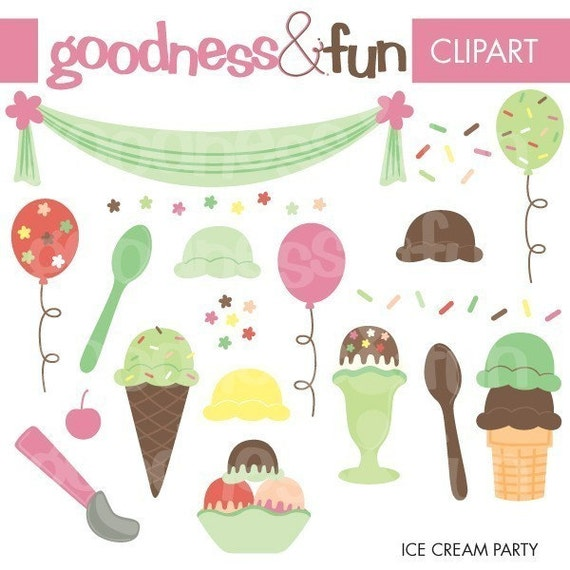 clip art ice cream party - photo #50