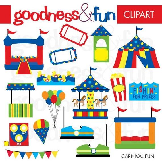 Buy 2 Get 1 FREE Carnival Fun Clipart Digital Carnival