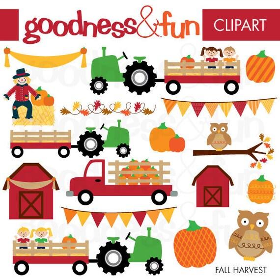 Buy 2 Get 1 FREE Fall Harvest Fall Clipart Digital Fall