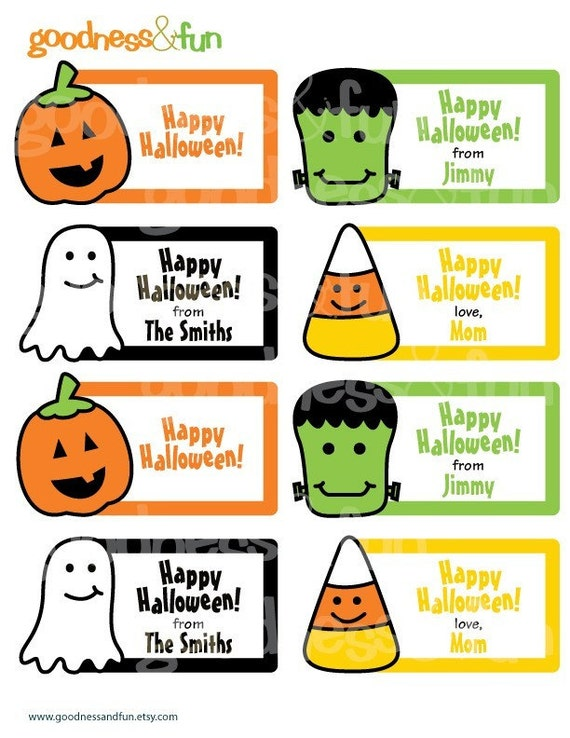 Impeccable image inside printable halloween gift tags