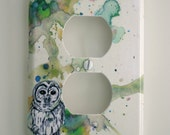 Owl Bird Art Decorative Light Switch Cover Plate Outlet Great room decor for kids baby nursery...and anyone else with a love for this anima