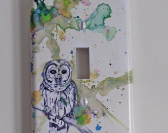 Owl Bird Art Decorative Light Switch Cover Great Owl Kids Room Decor and Baby Nursery Art decor