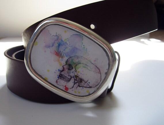 Skull Skeleton Belt Buckle -  Interchangeable Belt Buckle For Men and Women