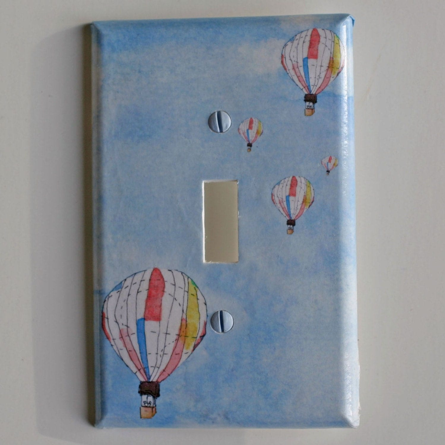 Hot Air Balloons Decorative Light Switch Plate Cover Baby