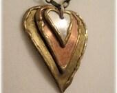 3 Metal Hearts Necklace
