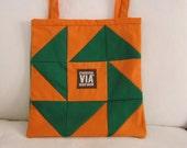 Repurposed/Upcycled Starbucks Apron Tote Bag