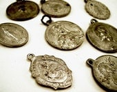 Charms... Lot of 8 vintage religious charms. Perfect for your assemblage, jewelry or altered art project.