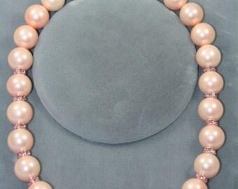 peach shiny necklace