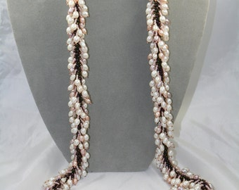 fresh water pearls necklace long