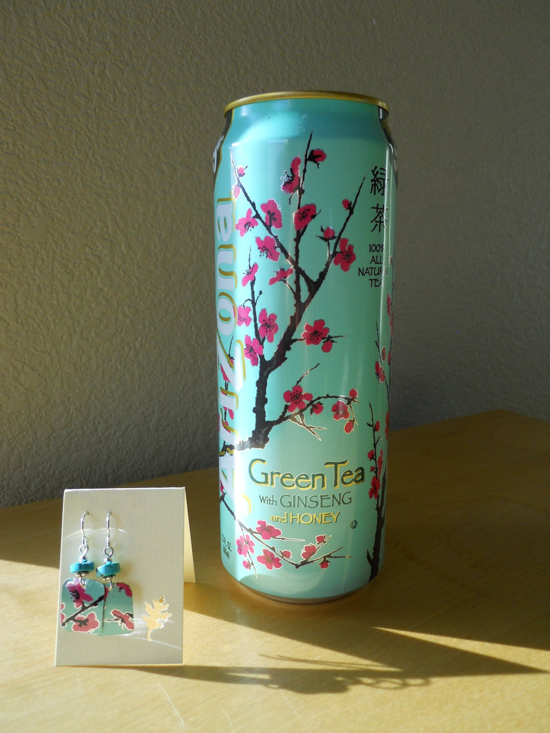 Arizona tea can earrings for Cool things to make out of recycled materials